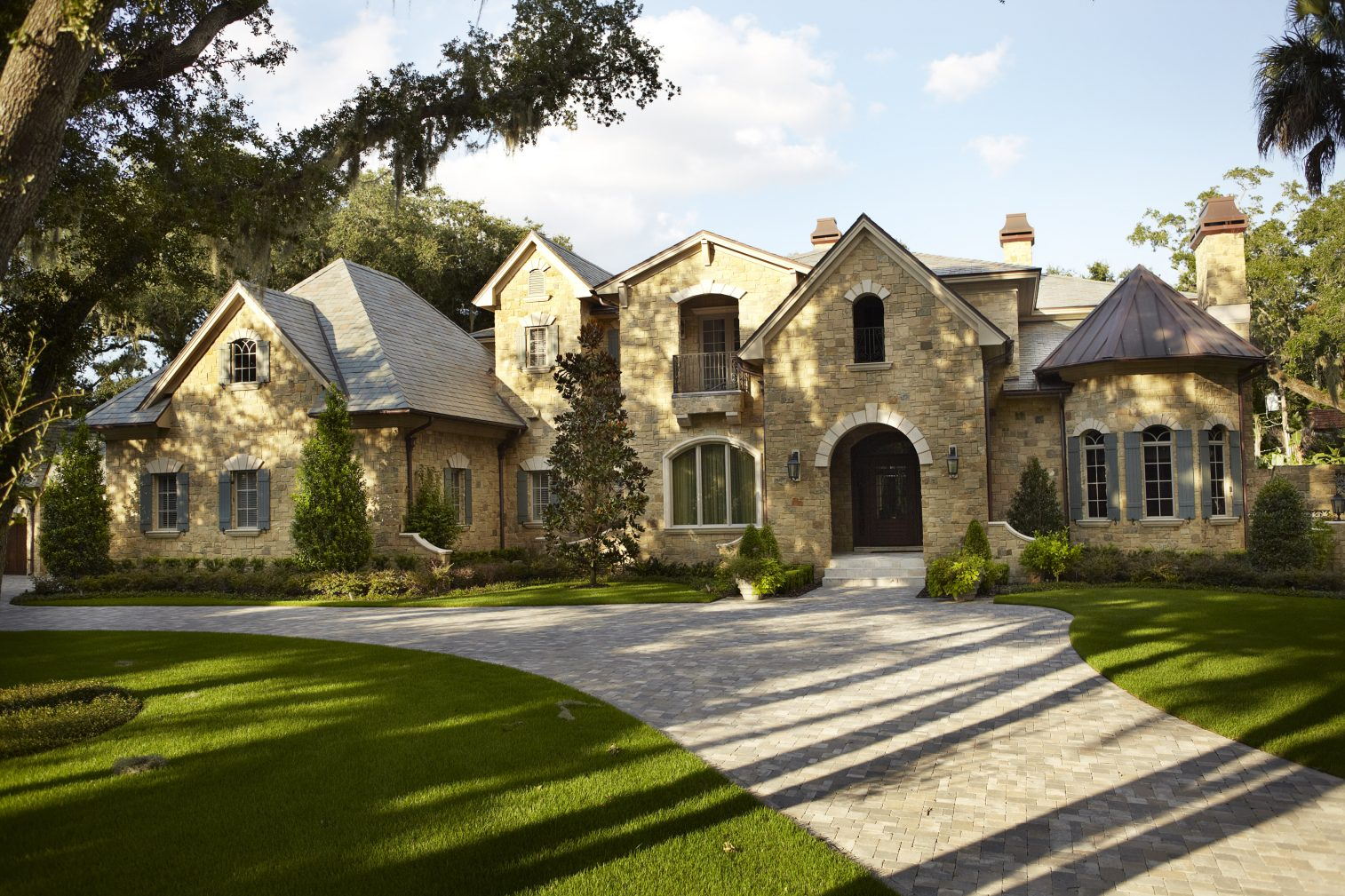 The audrey custom home designed and built by tampa home builders - A Tradition Of Artful Originals