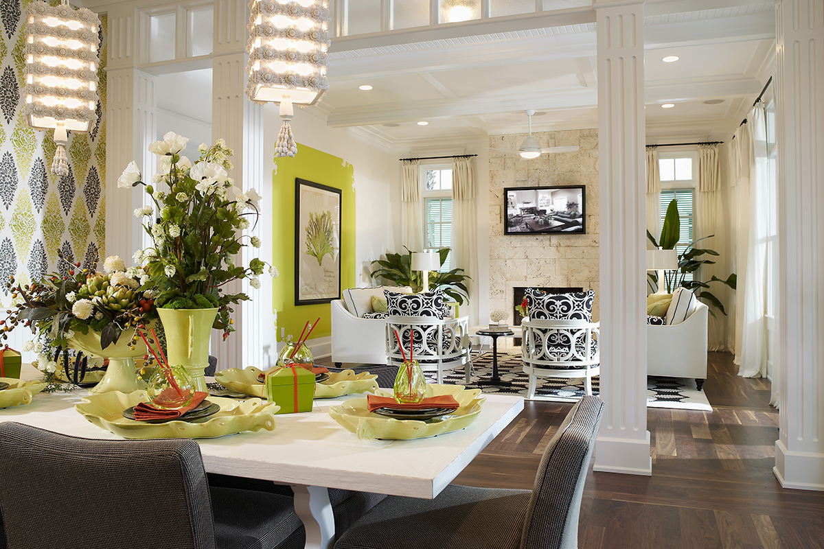 Custom Home Builders In Clearwater Fl Discover Your Interior Design Style Amber Model Dining Great Room